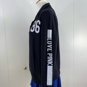 PINK VS M black 1/4 zip sweat shirt